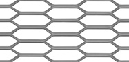 Hexagonal mesh expanded metal