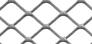 Square mesh expanded metal