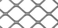 Square mesh flattened expanded metal